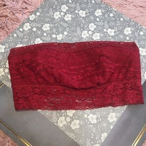 Red bra top  Free People XS  New